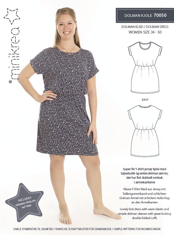 Minikrea dolman kjole