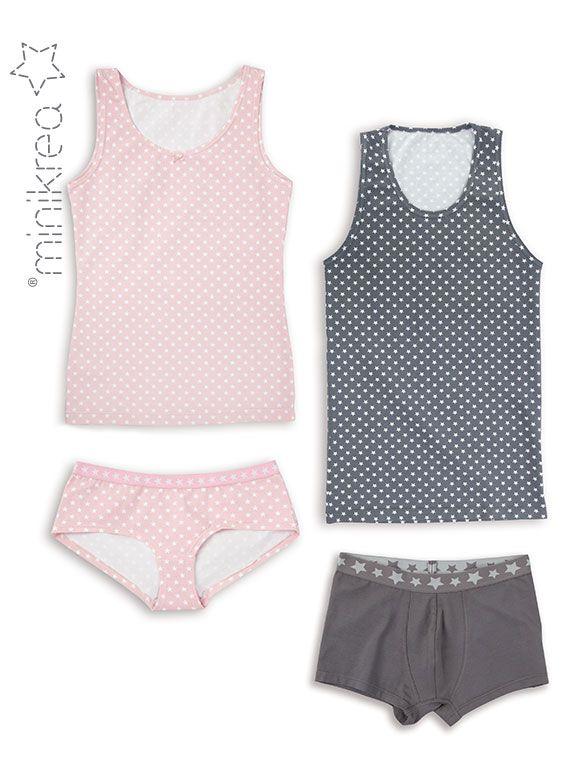 minikrea undertøjs mønster