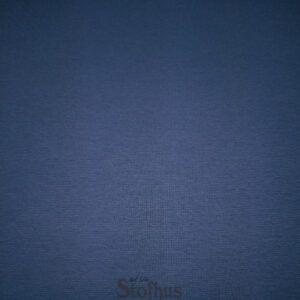 Blå ribrundstrikket