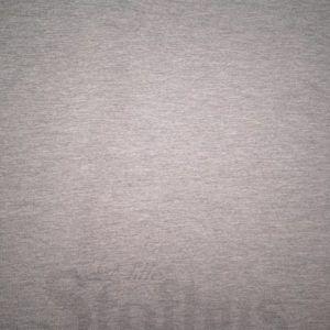 bomulds jersey lys grå melange