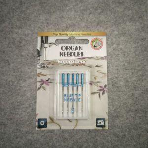 Organ broderinål blue tip 75/11