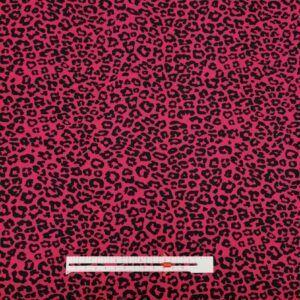 Leopart dyreprint pink bomulds jersey