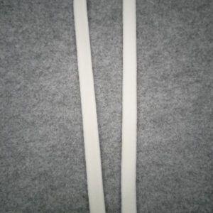 tubebånd knækket hvid 10 mm