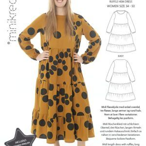 minikrea 7055 kjole med flæser