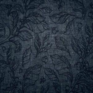 bambus jersey mørke blå med print
