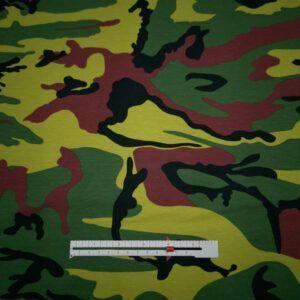 camouflage printet jersey grøn