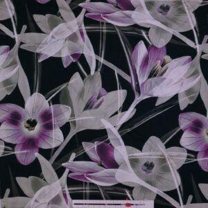 Bambus jersey med blomster