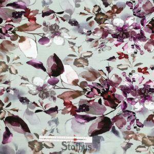 Digital printet bomulds jersey med blomster