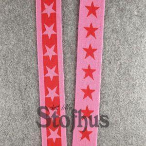 Boxershorts elastik i mørk rosa/rød 40 mm