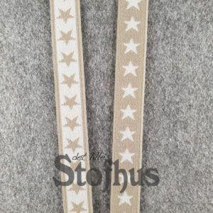Boxershorts elastik i beige 20 mm