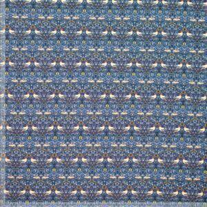 blå bomulds jersey med fugle