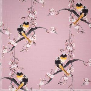 Printet isoli med fugle