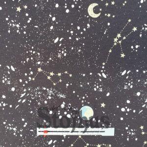 Printet isoli med stjernetegn og planeter